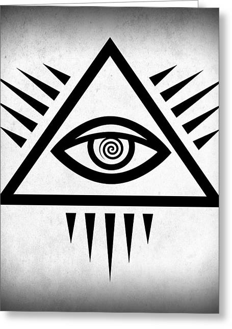 Symbol Of Power Greeting Cards - All Seeing Eye Greeting Card by Daniel Hagerman