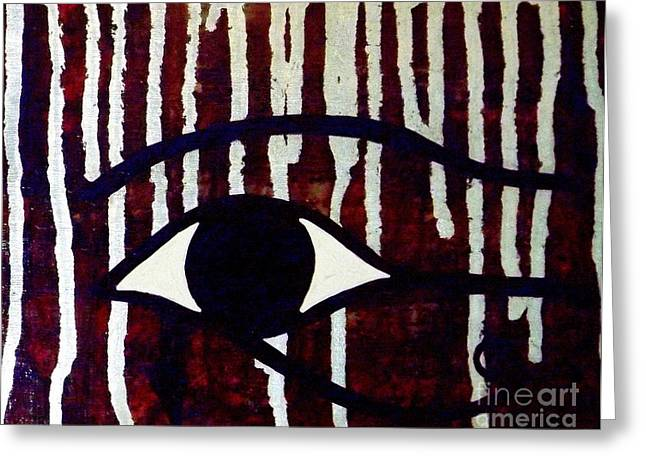 Horus Greeting Cards - All-Seeing Eye of Horus Greeting Card by Tammy Kunde