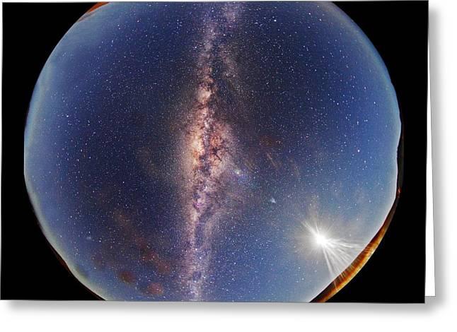 All-sky Milky Way View Greeting Card by Juan Carlos Casado (starryearth.com)