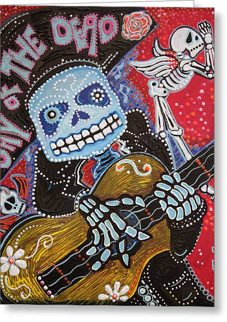 Mariachi Greeting Cards - All Souls Day Greeting Card by Laura Barbosa