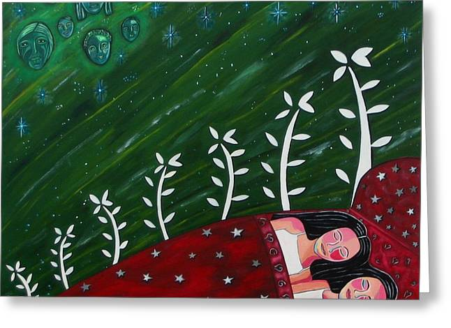 Popular Art Greeting Cards - All Sown Up Greeting Card by Sandra Marie Adams