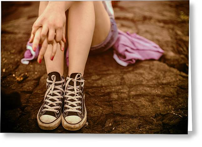 Conversing Photographs Greeting Cards - All Star Converse Greeting Card by Mountain Dreams