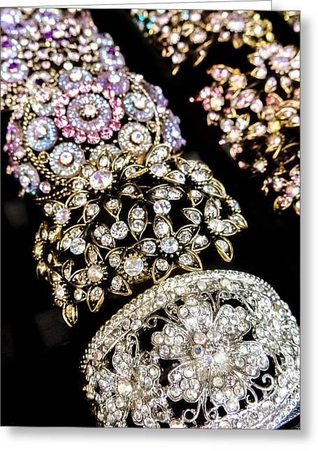 Rhinestone Greeting Cards - All That Glitters Greeting Card by Caitlyn  Grasso
