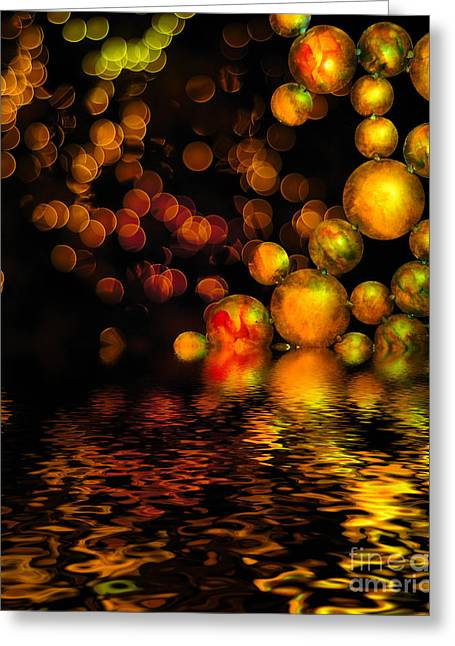 Bokeh Greeting Cards - All That Glitters is Gold Greeting Card by Amy Cicconi
