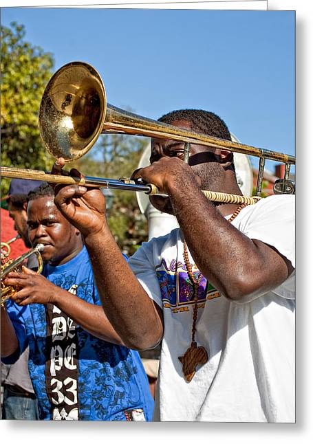 Band Photography Greeting Cards - All That Jazz Greeting Card by Steve Harrington
