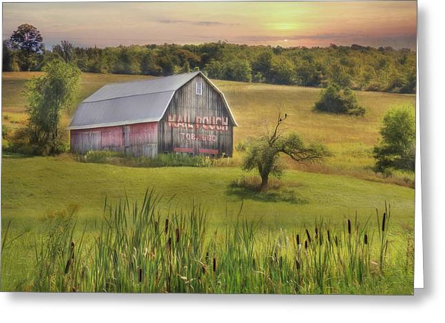 Barn Digital Greeting Cards - All That Remains Greeting Card by Lori Deiter