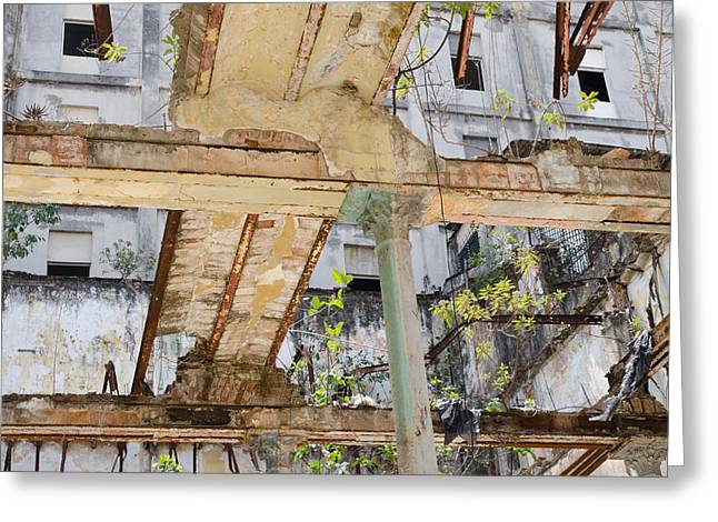 Havana Greeting Cards - All that remains. Greeting Card by Rob Huntley