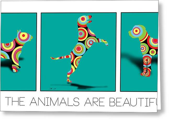Retriever Digital Greeting Cards - All The Animal Are Beautiful  Greeting Card by Mark Ashkenazi