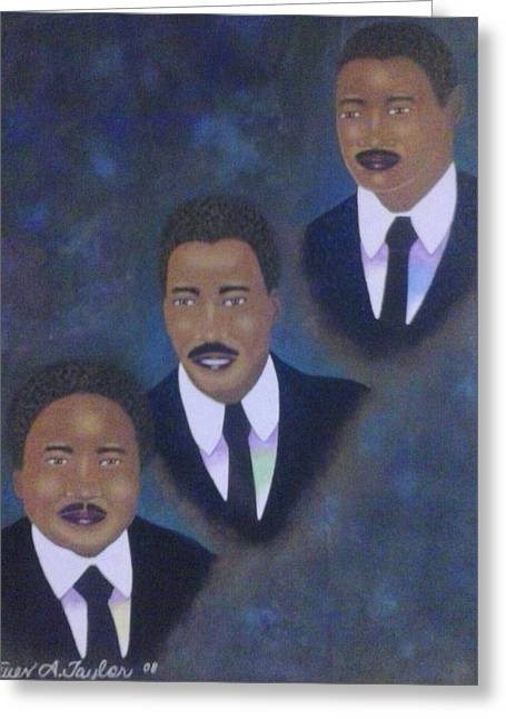 Portraits Tapestries - Textiles Greeting Cards - All The Kings Men Greeting Card by Steven Taylor