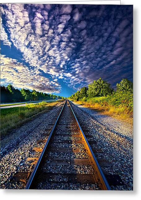 Train Tracks Greeting Cards - All The Way Home Greeting Card by Phil Koch