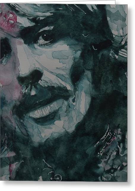 British Celebrities Greeting Cards - All Things Must Pass      @2 Greeting Card by Paul Lovering