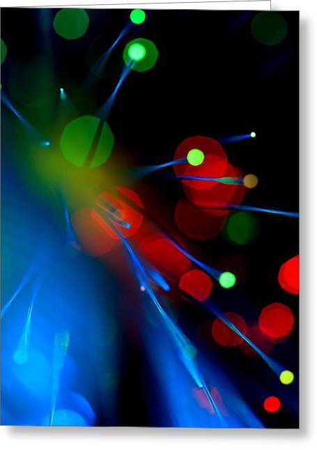Science Fiction Art Greeting Cards - All Through the Night Greeting Card by Dazzle Zazz