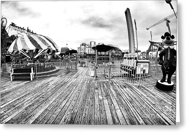 Seaside Heights Greeting Cards - All to Yourself Greeting Card by John Rizzuto