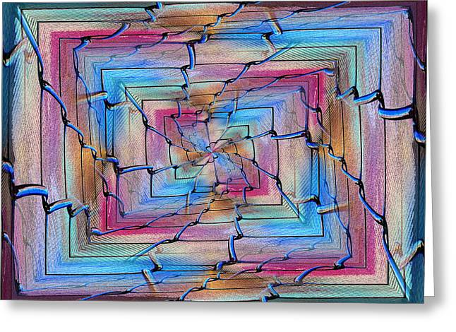 Jagged Border Greeting Cards - All Together Now And Forever Greeting Card by Tim Allen
