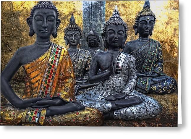 All U Buddhas Greeting Card by Joachim G Pinkawa
