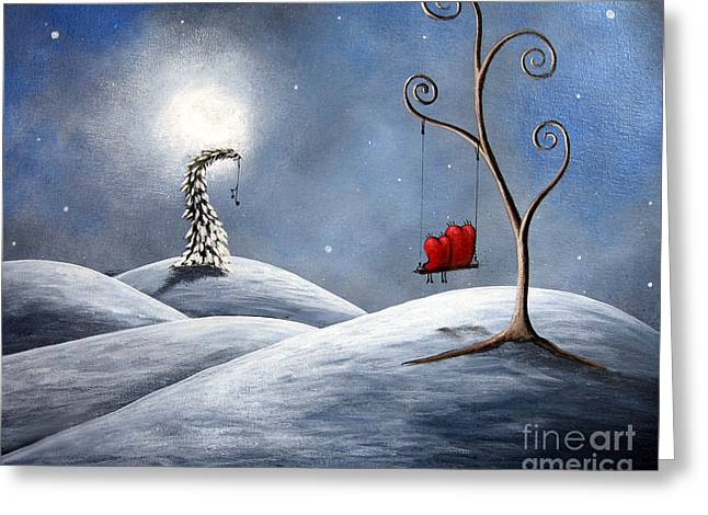 All We Need For Christmas By Shawna Erback Greeting Card by Shawna Erback