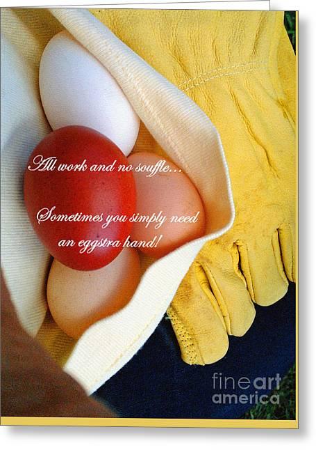 All Work No Souffle - Phrase Greeting Card by Anita Faye