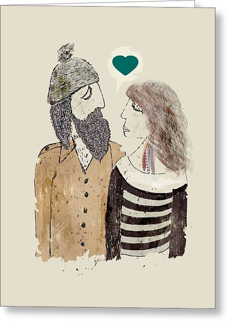 Man And Woman In Love Greeting Cards - All You Need Greeting Card by Bri Buckley