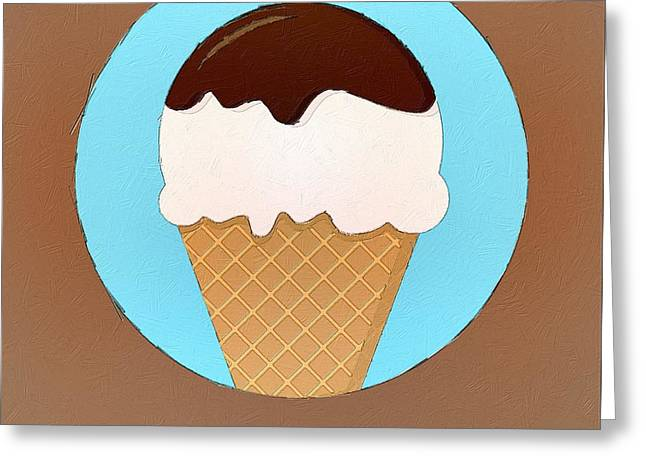 Interior Still Life Digital Art Greeting Cards - All You Need Is Ice Cream Greeting Card by Florian Rodarte
