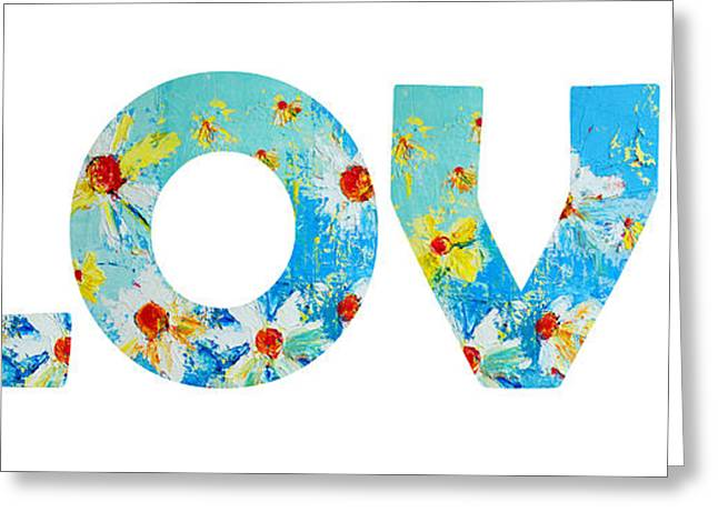 Floral Digital Art Greeting Cards - All You Need is LOVE Greeting Card by Patricia Awapara
