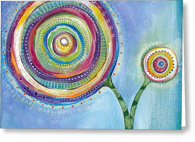 Beauty In Nature Paintings Greeting Cards - All You Need Is Love Greeting Card by Tanielle Childers