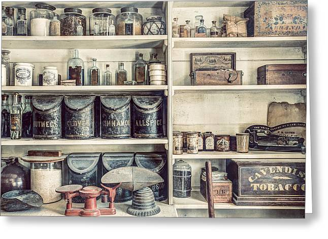 Old Stuff Greeting Cards - All you need - The General Store Greeting Card by Gary Heller