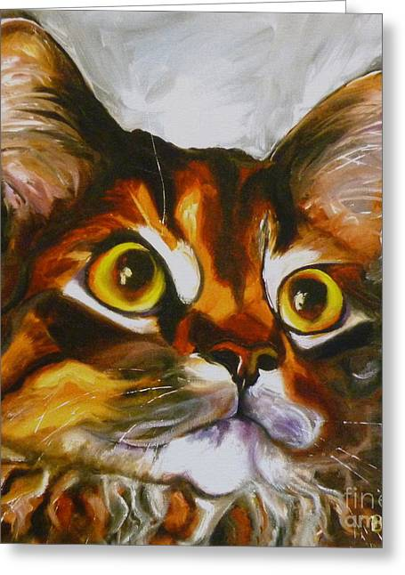 Cat Prints Greeting Cards - All Yours Greeting Card by Susan A Becker
