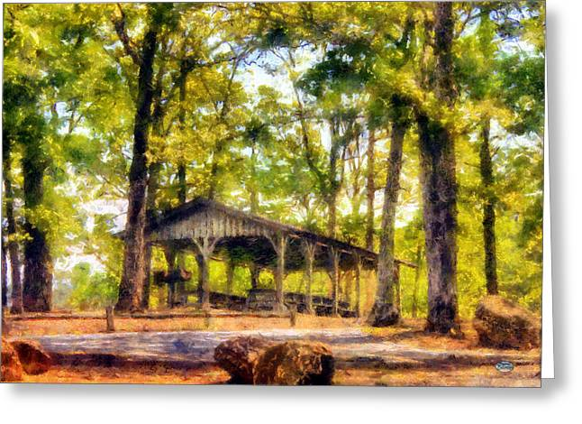 Georgia Nature Greeting Cards - Allatoona Picnic Greeting Card by Daniel Eskridge