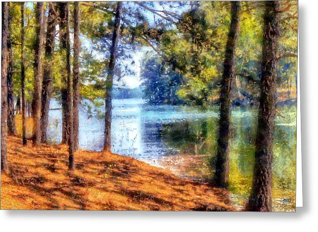 Georgia Nature Greeting Cards - Allatoona Red Shores Greeting Card by Daniel Eskridge