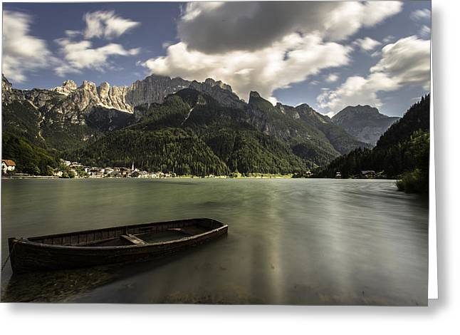 Inversion Greeting Cards - Alleghe and Monte Civetta Greeting Card by James Rushforth