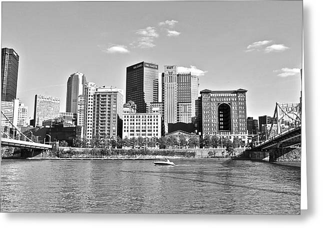 Allegheny River Greeting Cards - Allegheny River Pittsburgh Greeting Card by Frozen in Time Fine Art Photography