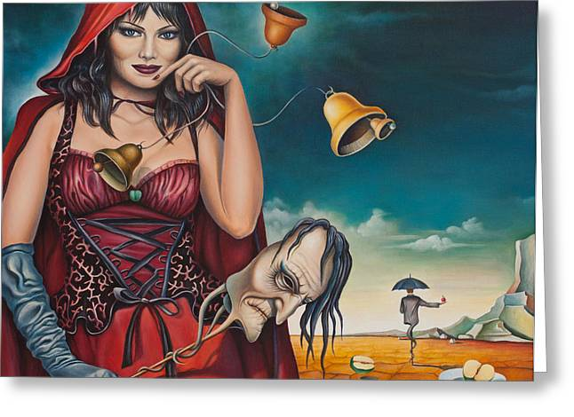 Snowwhite Greeting Cards - Allegorical Phantasmagoria Greeting Card by Dragomir Minkov