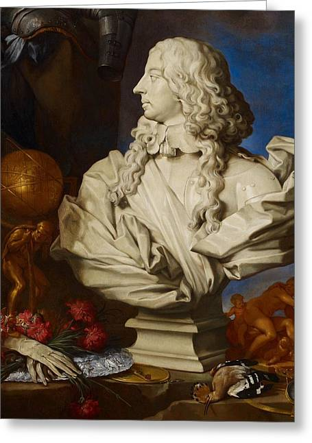 Cluttered Greeting Cards - Allegorical Still Life Greeting Card by Francesco Stringa