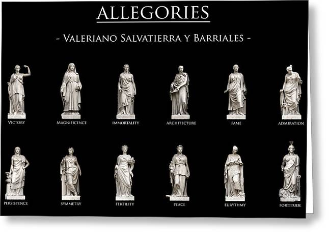 Sculpture Art Greeting Cards - Allegories Greeting Card by Fabrizio Troiani
