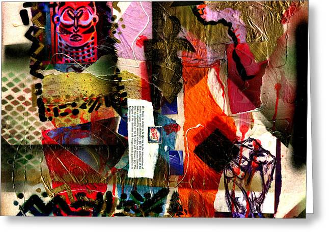 Romare Bearden Greeting Cards - Allegories of Liberty Greeting Card by Everett Spruill