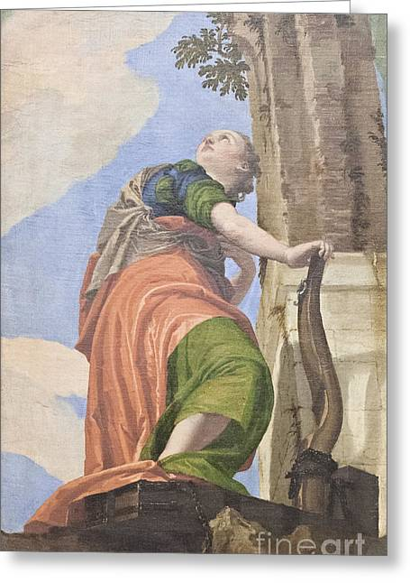 Paolo Caliari Veronese Greeting Cards - Allegory of good governance by Veronese Greeting Card by Roberto Morgenthaler