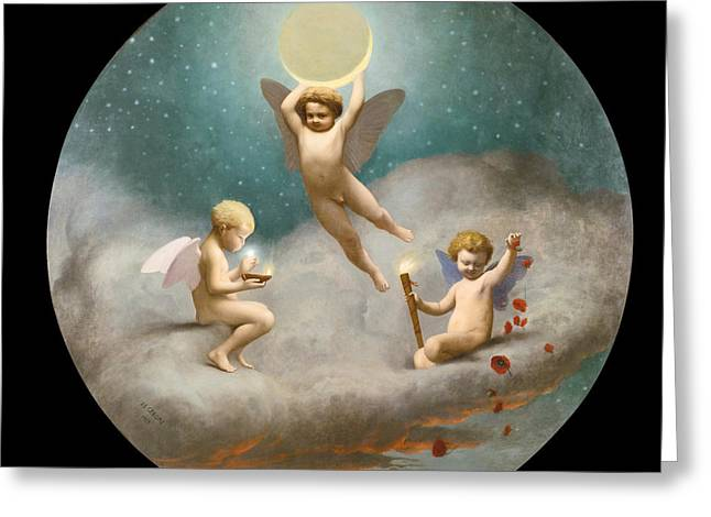 Gerome Greeting Cards - Allegory of Night Greeting Card by Jean-Leon Gerome
