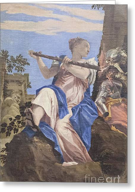 Paolo Caliari Veronese Greeting Cards - Allegory of peace by Veronese Greeting Card by Roberto Morgenthaler