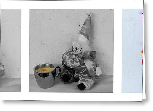 Clown Greeting Cards - Allegory of the Coffee Drinker by William Patrick Greeting Card by Sharon Cummings