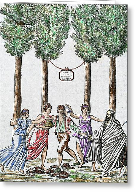 Allegory Of The French Revolution Greeting Card by Prisma Archivo