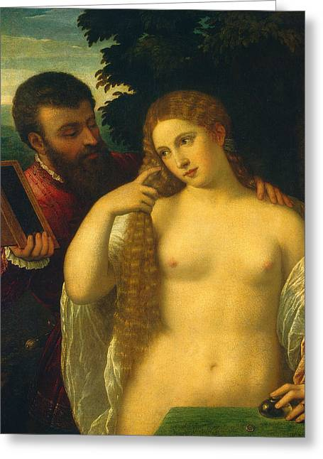 Allegories Greeting Cards - Allegory Greeting Card by Titian