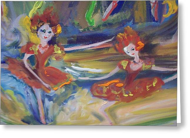 Allegro And Andante Greeting Card by Judith Desrosiers