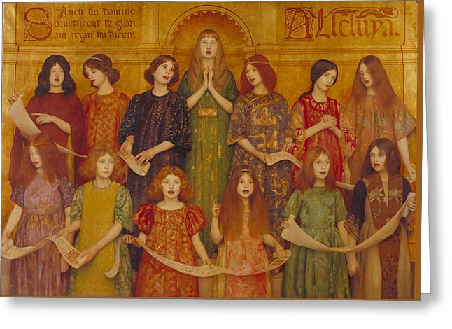 Alleluia Greeting Card by Thomas Cooper Gotch