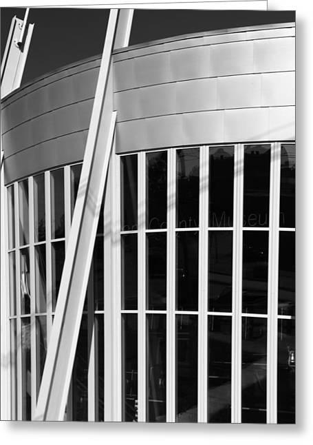 Allen County Museum Black And White Greeting Card by Dan Sproul