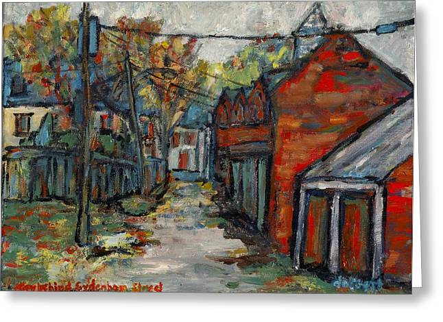 Kingston Greeting Cards - Alley Behind Sydenham Street Greeting Card by David Dossett