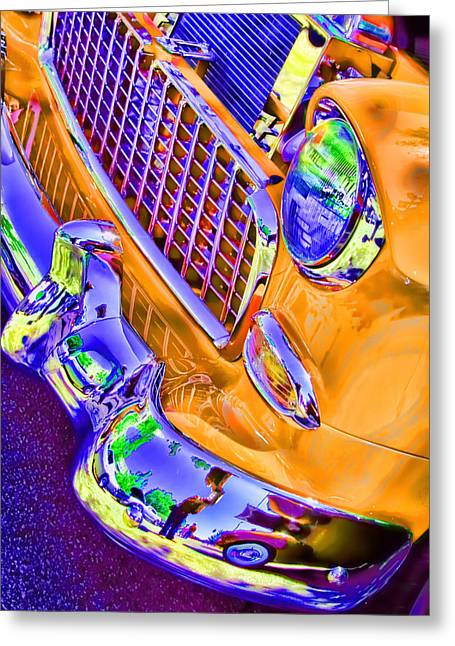 Car Greeting Cards - Alley Cat 3 Big Yellow Taxi Greeting Card by Lesa Fine