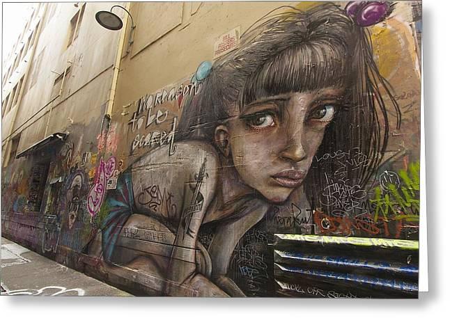 Alley Graffiti #2 Greeting Card by Stuart Litoff