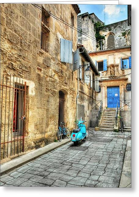 Stepping Stones Greeting Cards - Alley In Arles Greeting Card by Mel Steinhauer
