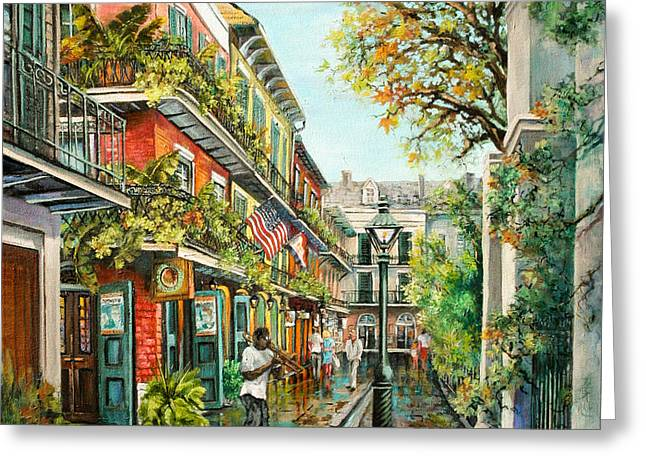 Alley Jazz Greeting Card by Dianne Parks