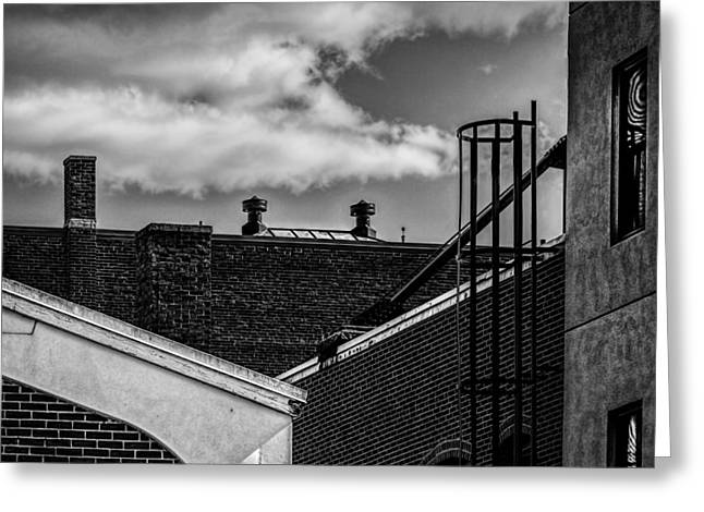 Alley Off The Park Greeting Card by Bob Orsillo